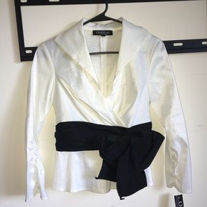Black & White Formal Blouse NWT